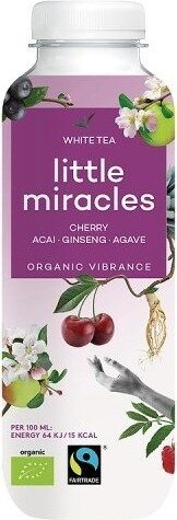 Fairtrade Organic Energiser White Tea Cherry Ginseng Açai Agave - Product - fr