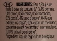 Fairtrade Organic Energiser White Tea Cherry Ginseng Açai Agave - Ingrediënten - fr
