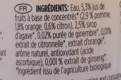 Lemongrass Tea and Ginseng - Ingrediënten