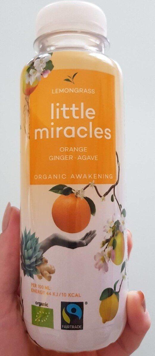 Organic Energiser Lemongrass Orange Ginger Ginseng Agave - Voedingswaarden - fr