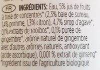 Rooibos Tea Elderberry Ginger Ginseng Agave - Ingrediënten - fr