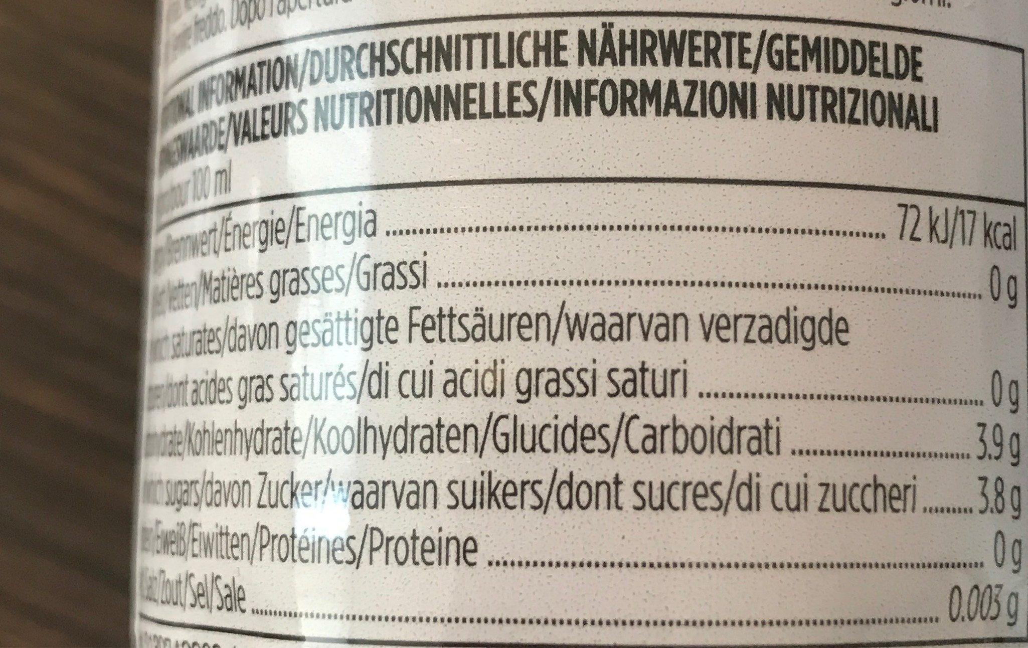 Rooibos Tea Elderberry Ginger Ginseng Agave - Voedingswaarden - fr