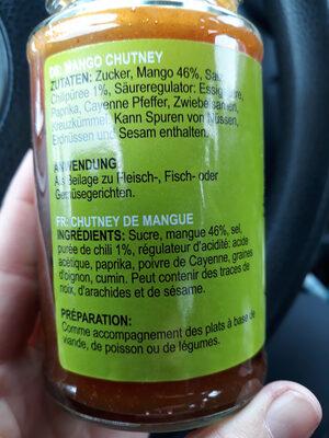 Mango Chutney - Ingrediënten - fr