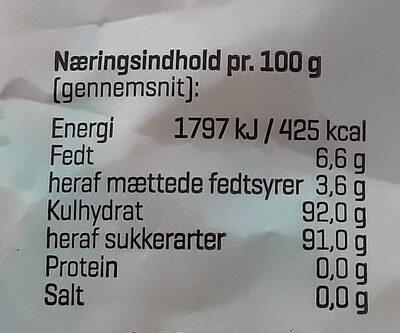Tutti Frutti Mix - Informations nutritionnelles - da