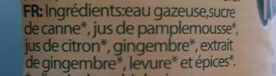 Ginger Beer Bio - Ingrédients - fr