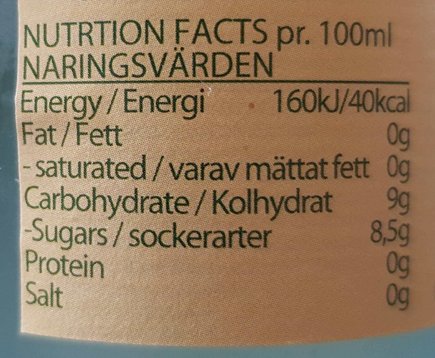Ginger Beer Bio - Informations nutritionnelles - fr