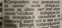 Tonic water - Ingrediënten - fr