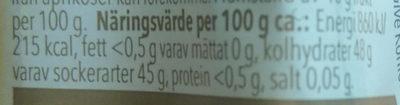 Aprikosmarmelad - Nutrition facts - sv