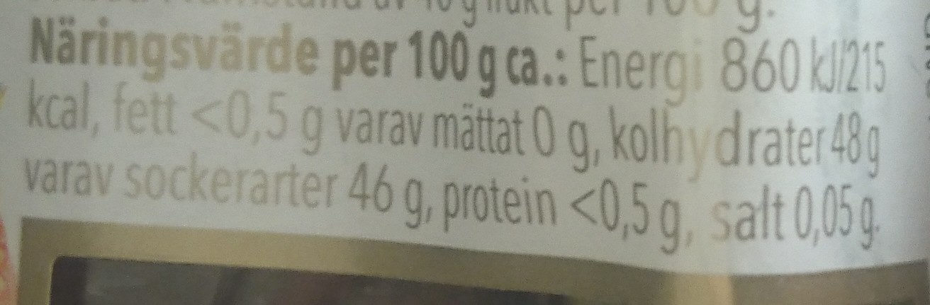 Marmelad, jordgubb - Nutrition facts - sv