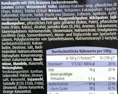 Rumkugeln - Ingrédients - de