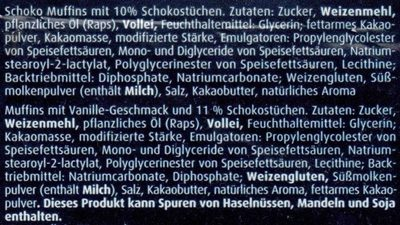 Schoko & Stracciatella Muffins - Ingrediënten