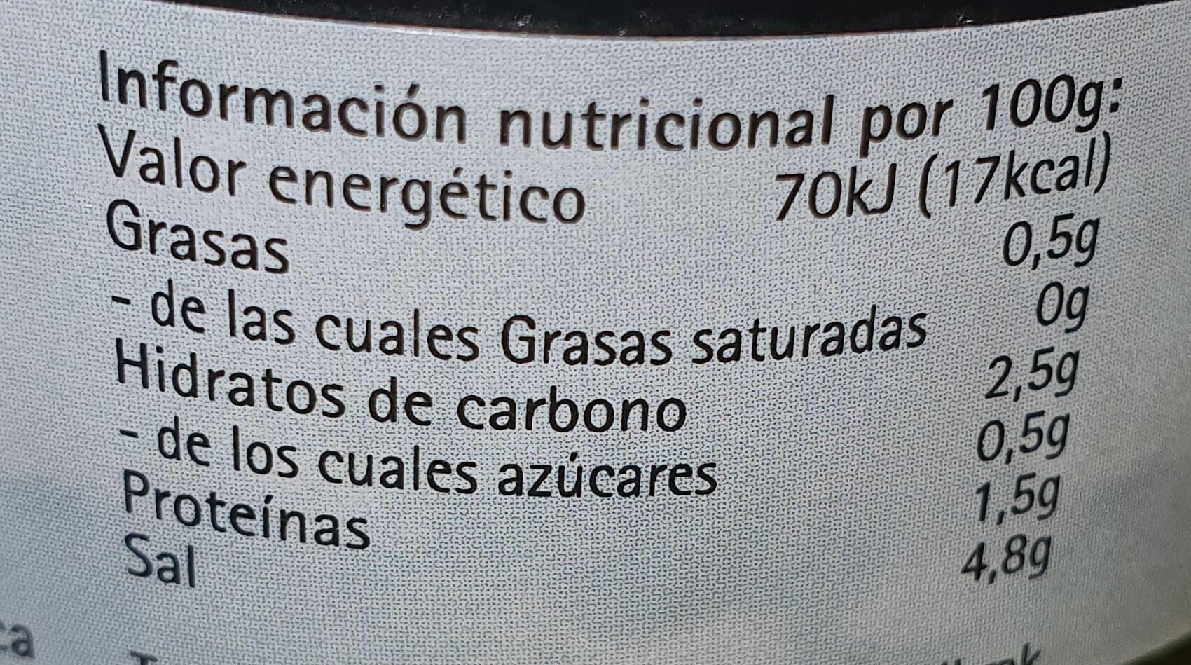 Perlas de algas negro - Voedingswaarden - fr
