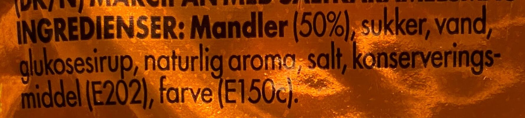 Odense Marsipan Salt Karamell - Ingrédients - en