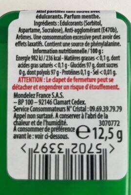 Mini mints - Informations nutritionnelles - fr