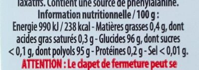 Hollywood Mini MINTS - Informations nutritionnelles - fr
