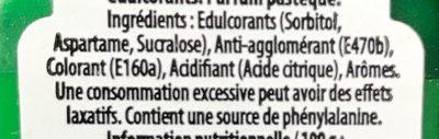 Mini Mints bonbons parfum fruit d'été - Ingrédients - fr