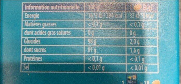 La vosgienne seve de pin - Informations nutritionnelles - fr