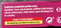 Parfum cassis - Ingrédients - fr