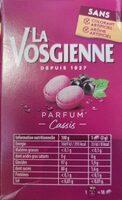 Parfum cassis - Informations nutritionnelles - fr
