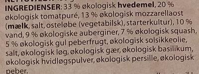 Økologisk Vegetariano - Ingrédients - da