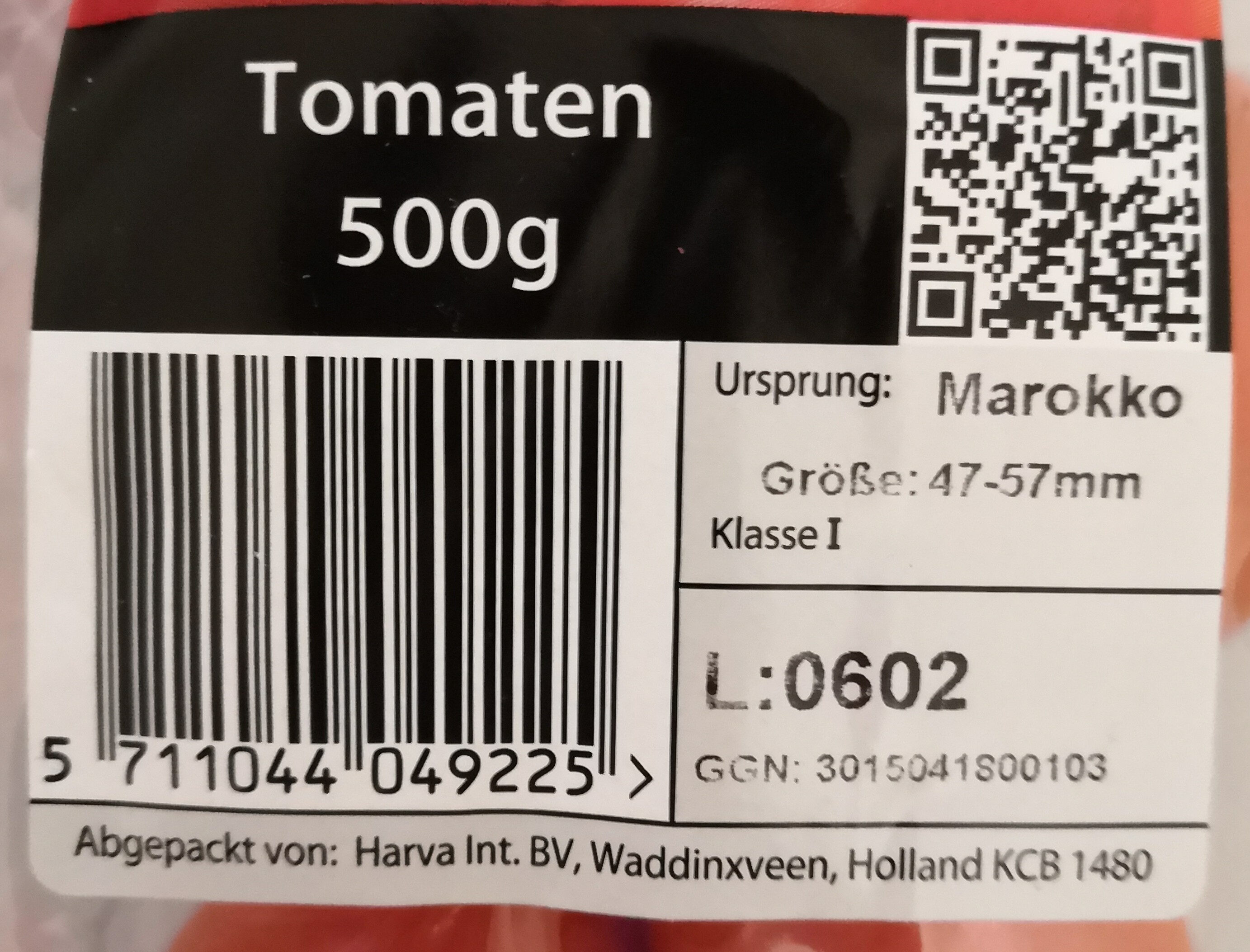 Harva Tomaten - Inhaltsstoffe