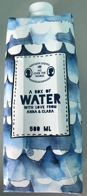A box of water with love from Anna & Clara - Product