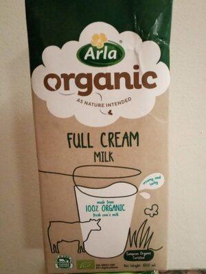full cream organic milk - Product - fr