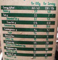 full cream organic milk - Voedingswaarden - fr
