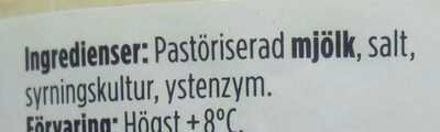Åseda Gräddost - Ingrediënten - sv