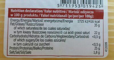 Cheddar - Voedingswaarden - es