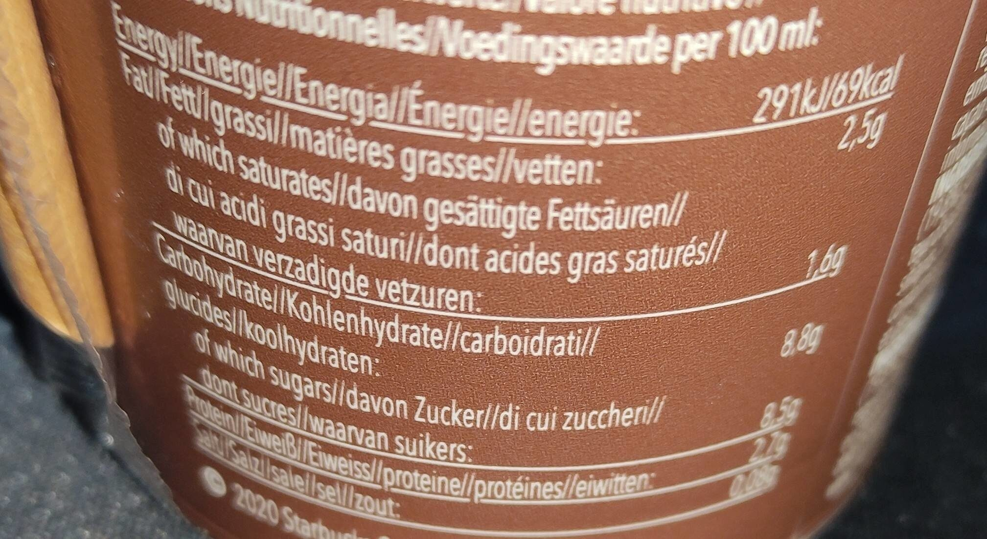 Cappuccino - Nutrition facts - it