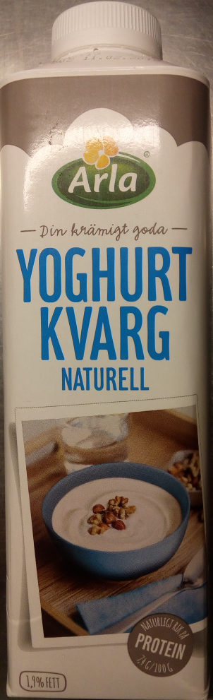 Arla Yoghurtkvarg Naturell - Produit - sv