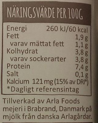 Arla Yoghurtkvarg Naturell - Informations nutritionnelles - sv