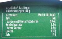 Arla Buko Basilikum - Voedingswaarden - de