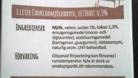 Arla Chokladmjölkdryck - Ingredients