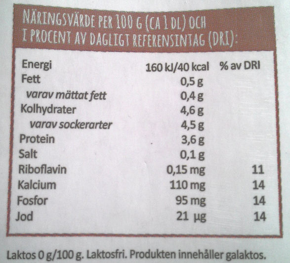 Arla Chokladmjölkdryck - Nutrition facts