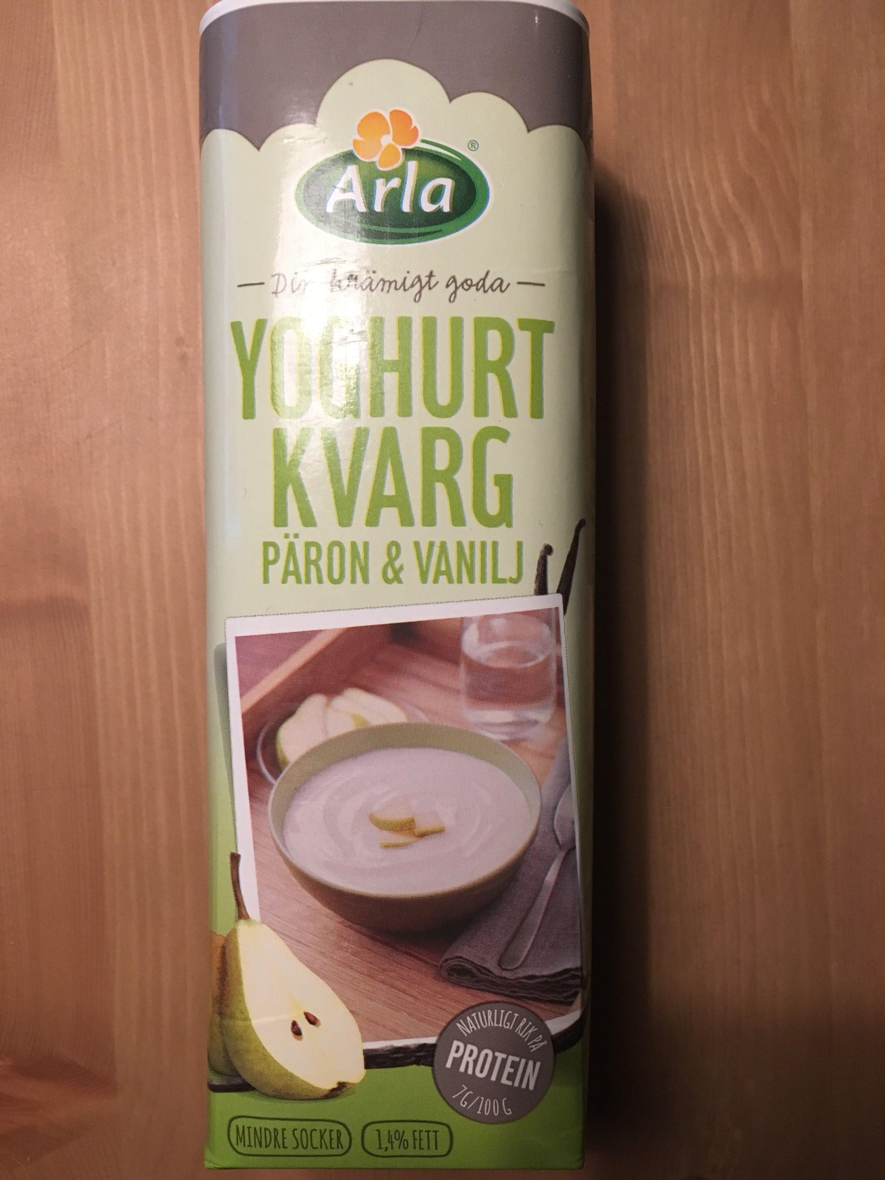 Yoghurt Kvarg Päron & Vanilj - Product - fr