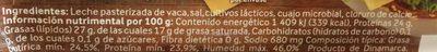 QUESO GOUDA - Ingrediënten