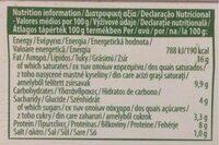 Garlic fresh cheese - Informations nutritionnelles - fr