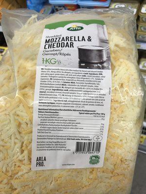 Mozzarella & Cheddar râpés - Product - fr