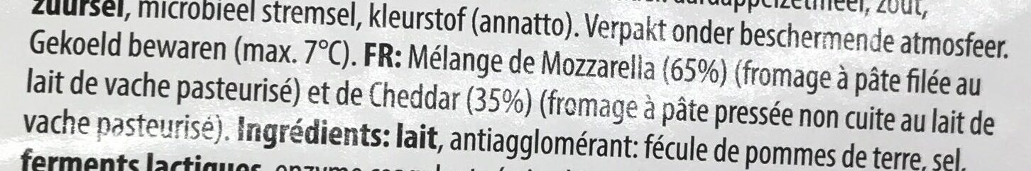 Mozzarella & Cheddar râpés - Ingrediënten - fr
