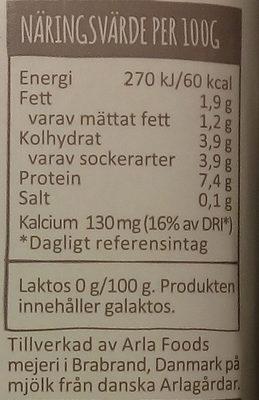 Arla Yoghurtkvarg Naturell laktosfri - Informations nutritionnelles - sv