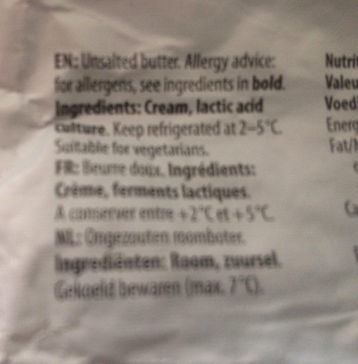Beurre - Ingrediënten - fr