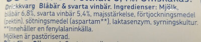 Yalla! Drickkvarg Blåbär & Svarta Vinbär - Ingredients