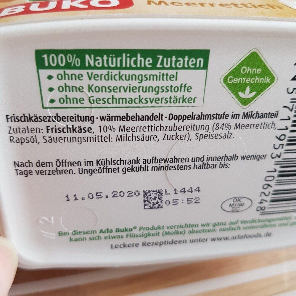 Buko Meerrettich - Ingrediënten - de
