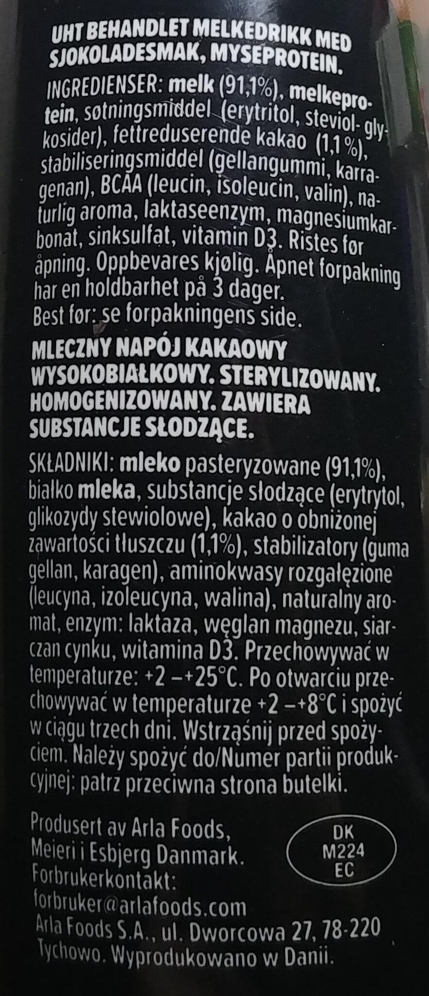 Mleczny napój kawowy wysokobiałkowy - Składniki - pl