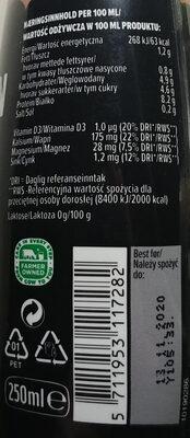 Mleczny napój kawowy wysokobiałkowy - Wartości odżywcze - pl