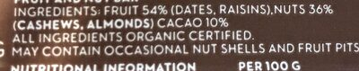 Raw Bite Cacao - Ingrédients - fr