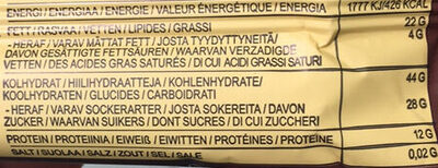Raw Bite Cacao - Valori nutrizionali - de