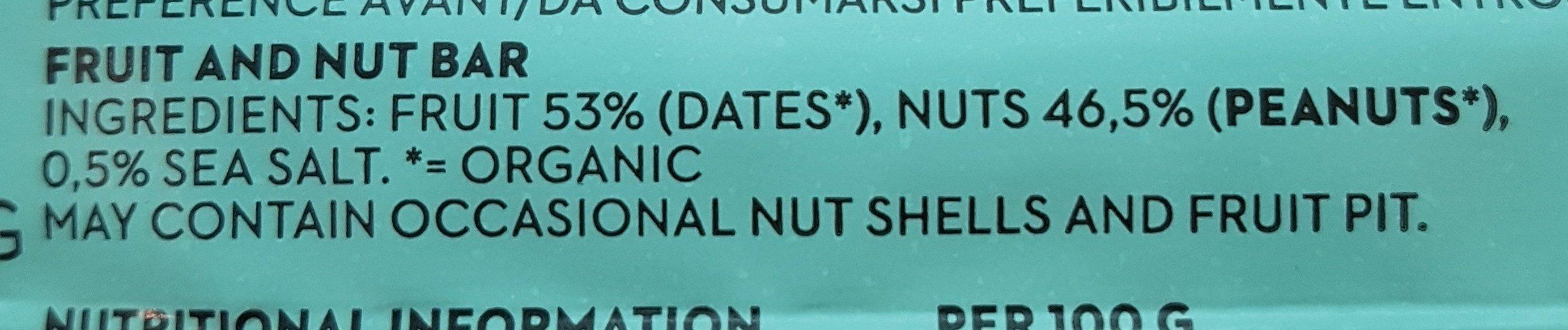 Peanut bar - Ingredients - fr